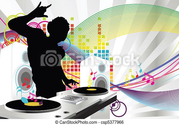 Música DJ - csp5377966