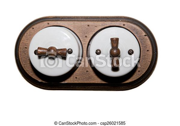 Estilo antiguo interruptor de doble luz - csp26021585
