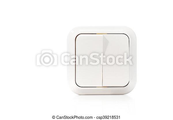 Doble interruptor de luz - csp39218531