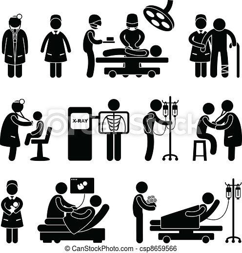 Hospital médico de cirugía - csp8659566