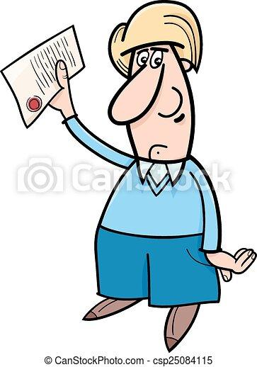 Un hombre con dibujos - csp25084115
