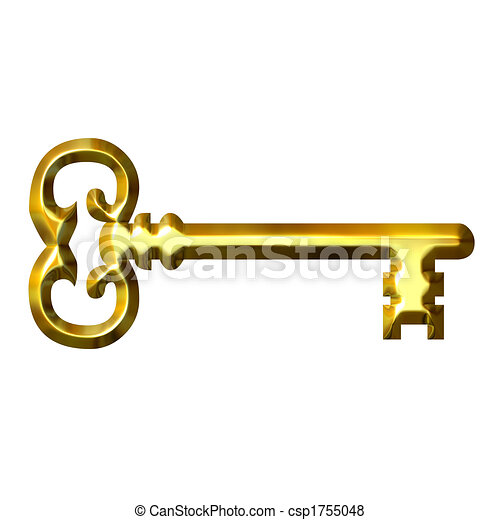 3D llave dorada - csp1755048