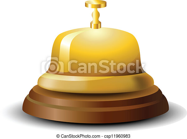 La campana de la recepción dorada - csp11960983