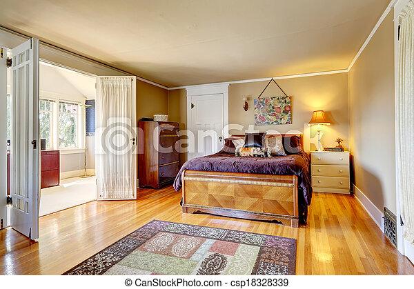 Dormitorio confortable con sala brillante - csp18328339