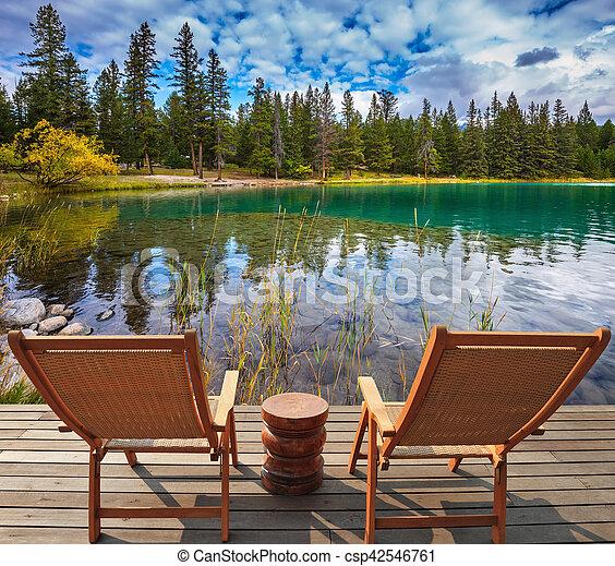 Dos cómodas sillas - csp42546761