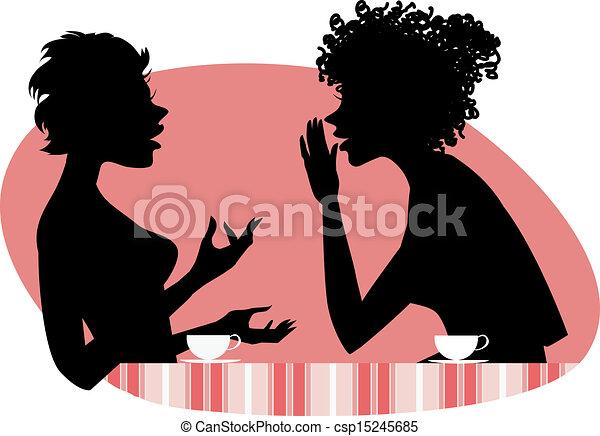 Dos mujeres hablando - csp15245685
