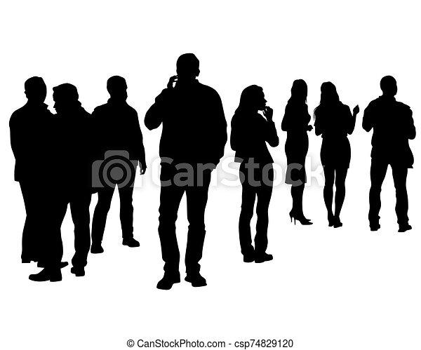 dos personas, grupo - csp74829120