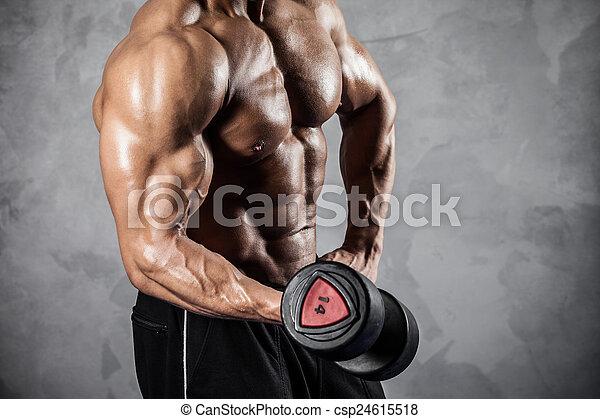 Fitness con pesas - csp24615518