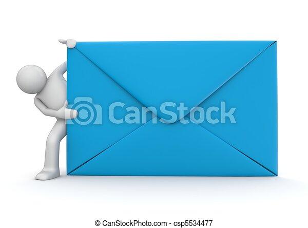 E-mail y personaje - csp5534477