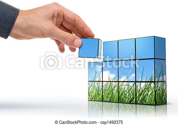 Eco pensamiento - csp1492375