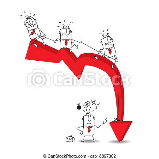 Crisis económica - csp18897362