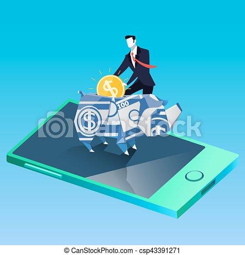 Economía y éxito comercial ilustración vectorial en diseño plano - csp43391271