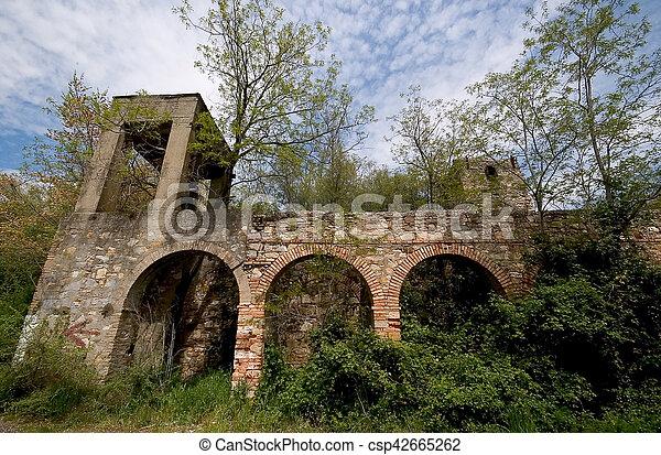 Un edificio abandonado en el bosque - csp42665262