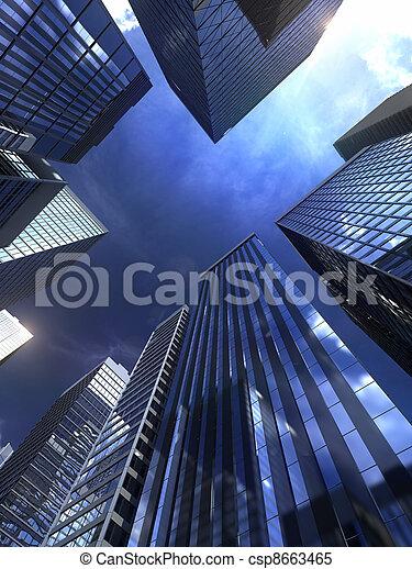Edificio moderno en la ciudad - csp8663465