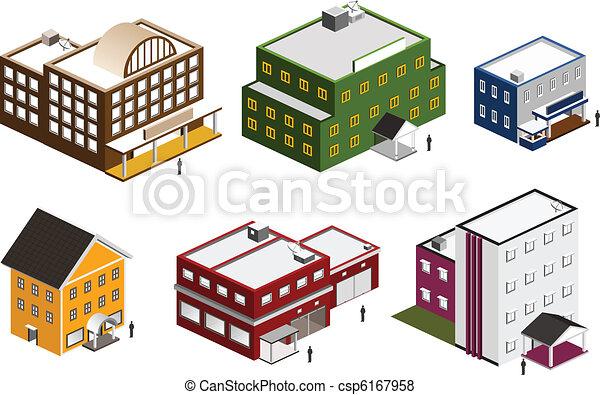 Edificio Isometrico listo - csp6167958