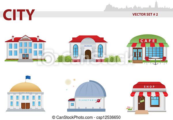 Edificio público. Set 2. - csp12536650