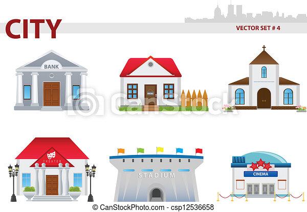 Edificio público. Set 4. - csp12536658