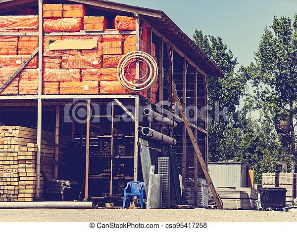 edificio, warehouse., materiales - csp95417258