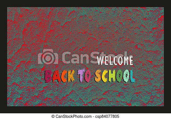 educación, diseño, escuela, theme., espalda, bienvenida, banner., cartel - csp84077805