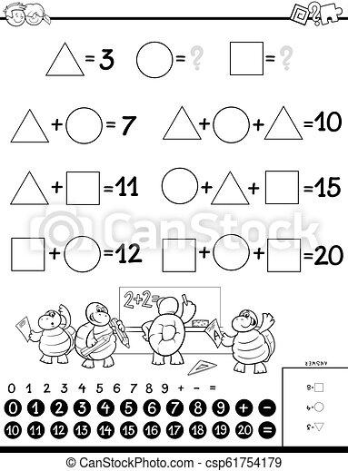 Juego educativo para niños de color - csp61754179