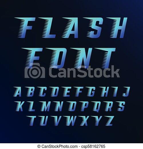Cartas con efectos de las líneas de velocidad. La fuente del vector encaja con el movimiento rápido - csp58162765