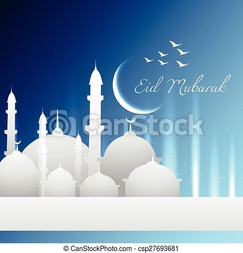 Eid Mubarak - csp27693681