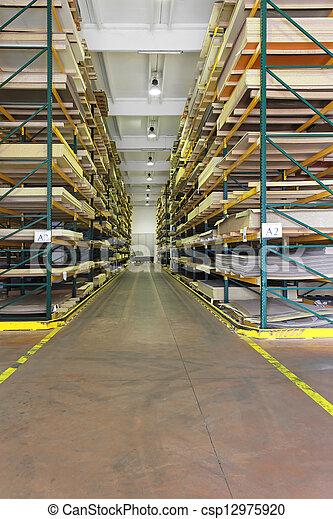 El almacén de materiales de construcción - csp12975920