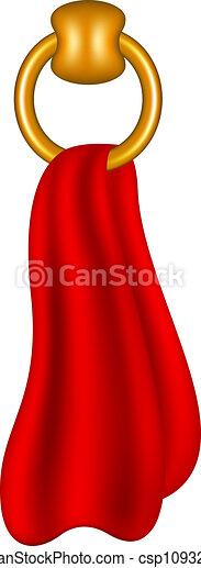 El anillo da forma a toallero con toalla - csp10932658