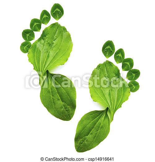 El arte abstracto de la ecología primaveral simboliza huellas verdes - csp14916641