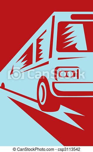 El autobús se acerca al visor - csp3113542