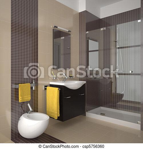 El baño de beige moderno - csp5756360
