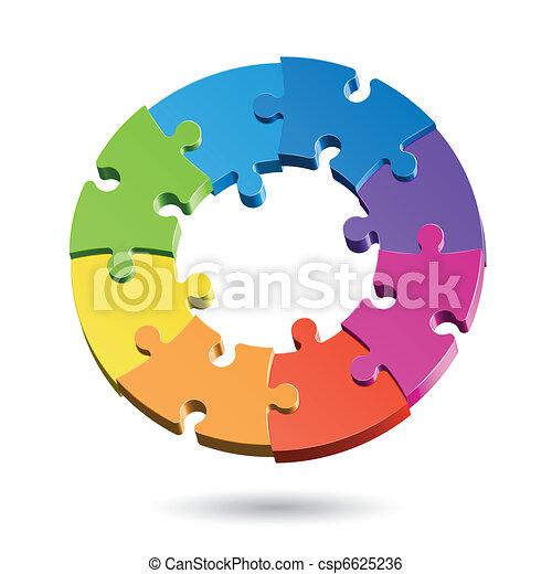 El círculo del rompecabezas - csp6625236
