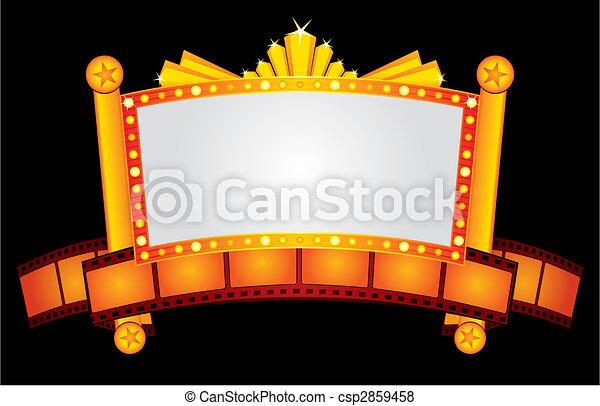 El cine dorado es neón - csp2859458