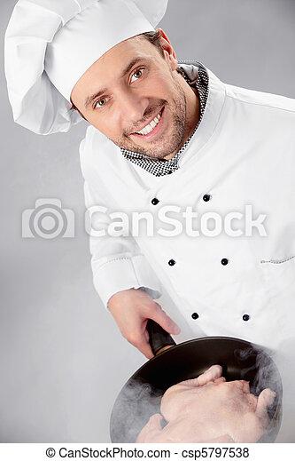 El cocinero se prepara - csp5797538