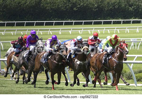 Carreras de caballos - csp5627222