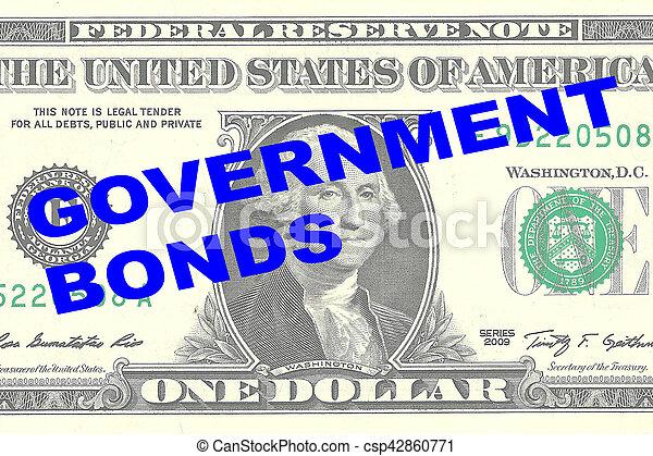 El concepto de bonos del gobierno - csp42860771