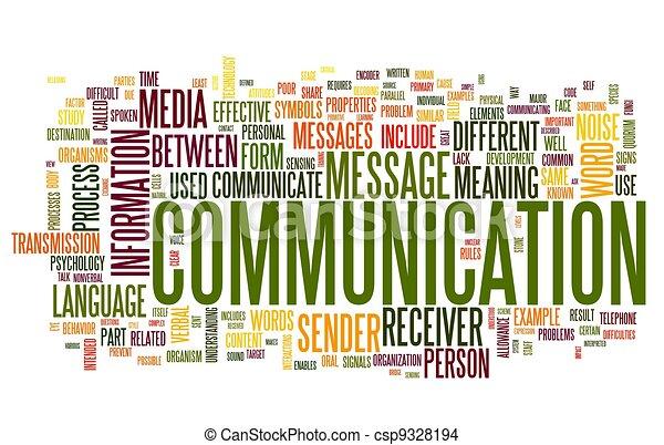 El concepto de comunicación en la nube de palabras - csp9328194