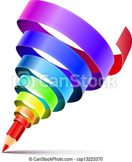 El concepto de diseño de lápices creativo - csp13223370