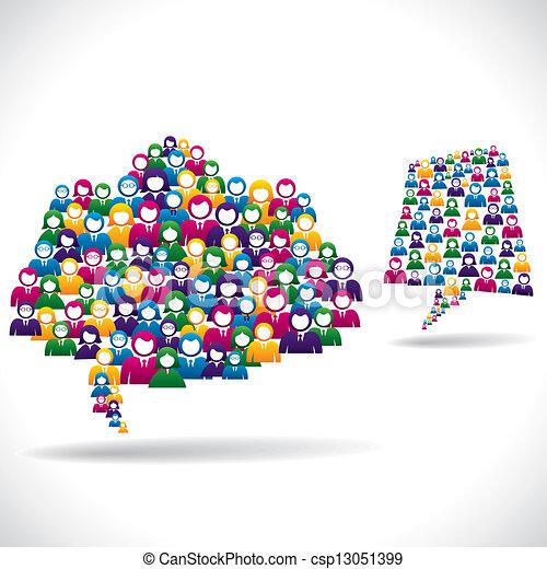El concepto de estrategia de marketing online - csp13051399