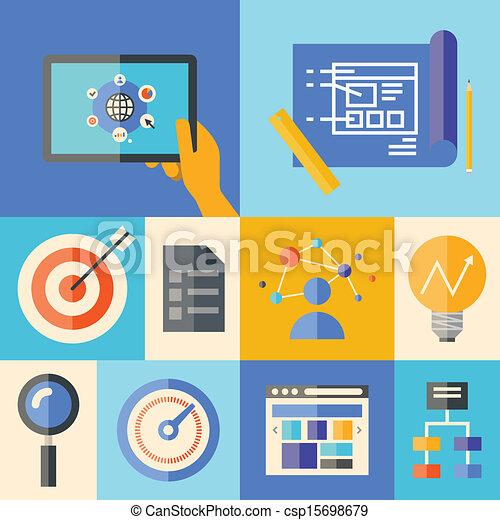 El concepto de ilustración de desarrollo Web - csp15698679