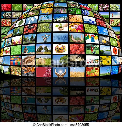 El concepto de la tecnología de producción de televisión - csp5703955