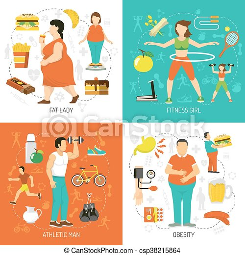 El concepto de obesidad y salud - csp38215864