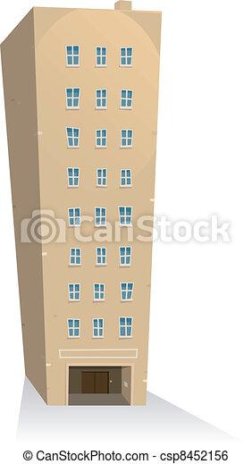 El edificio de apartamentos - csp8452156
