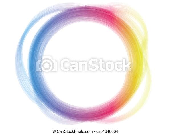 El efecto del círculo del arco iris. - csp4648064