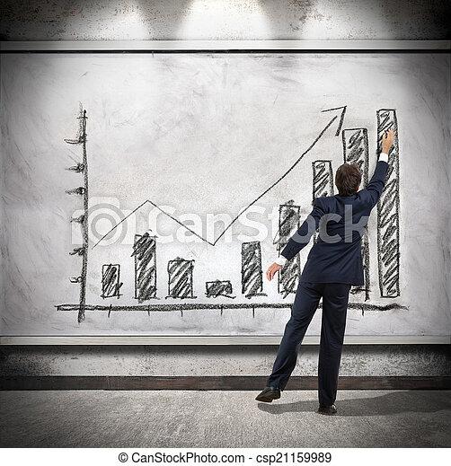 El empresario muestra crecimiento económico - csp21159989