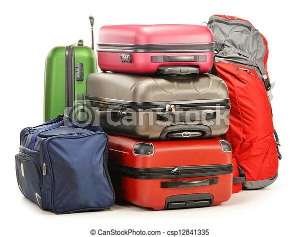 El equipaje consiste en maletas grandes, mochila y bolso de viaje - csp12841335