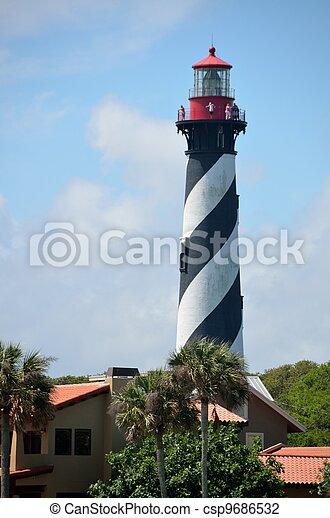El faro St. Augustine - csp9686532