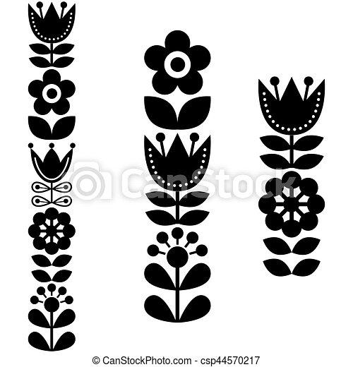 El finlandés inspiró largos patrones de arte folclórico... al estilo nórdico y escandinavo - csp44570217