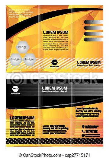 El folleto amarillo de la plantilla - csp27715171