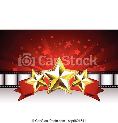 El fondo con estrellas doradas - csp6621641